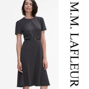 MM Lafleur Inez Dress in Charcoal  A7-1